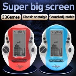 Console de jeux pour enfants rétro méga tetris console de jeu de haute qualité cadeaux de noël console de jeu grand écran tetris