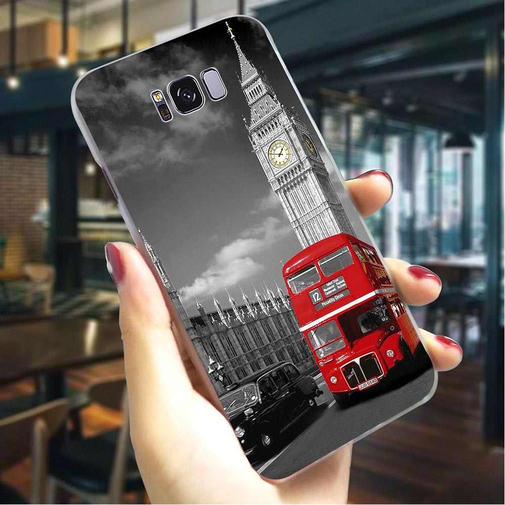 Cover for Samsung A5 Cases A3 A6 Plus A7 A8 A9 A20 A30 A40 A50 A70 London Bus Style Hard Phone Case for Galaxy A10