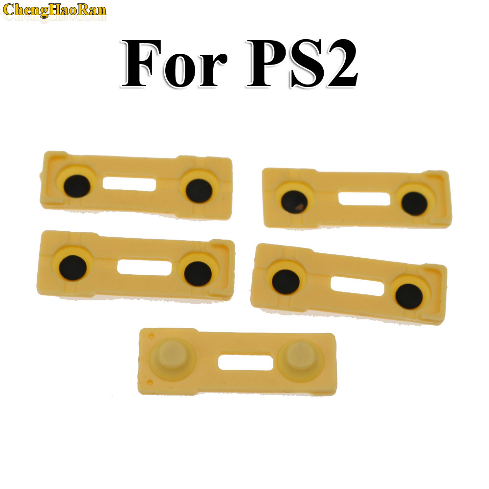 Image 4 - ChengHaoRan 2pcs Replacement Silicone Rubber Conductive Pads R2 L2 buttons Touches For Playstation 2 Controller PS2 Repair Parts-in Replacement Parts & Accessories from Consumer Electronics