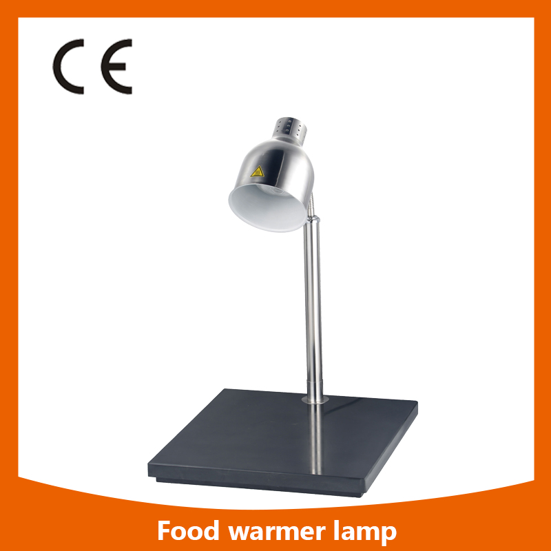PD-1 Stainless Steel Body 1 Head Food Warmer Lamp  Buffet Heating Lamps Kitchen Food Station pkjg dh2x2 stainless steel fast food warmer food warmer fast food equipment food warming cabinet