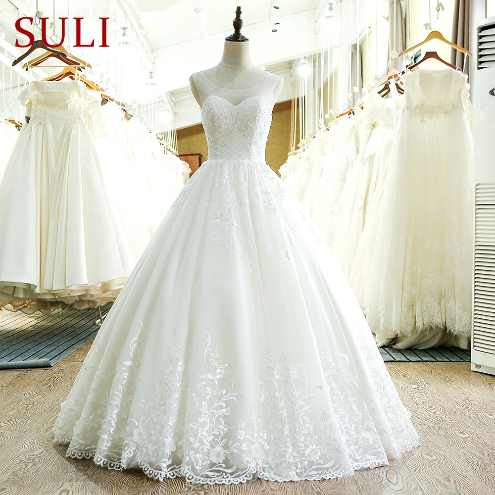 SL 220 High Quality A Line 2017 Vintage Wedding Dress China-in Wedding Dresses from Weddings & Events    1
