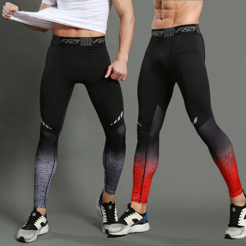 Brand Fitness Running Tights Men Jogger Bodybuilding Crossfit Sports Leggings Mens Gym Compression Jogging Pants Long Trousers
