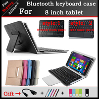 Universal Bluetooth Keyboard Case For LenovoTAB4 8 PLUS 8 Inch Tablet Portable Bluetooth Keyboard With Touchpad