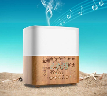 300 ml Bluetooth Aroma Oil Diffuser with Alarm Clock Aromatherapy Ultrasonic Air Humidifier for Car Room Home Office
