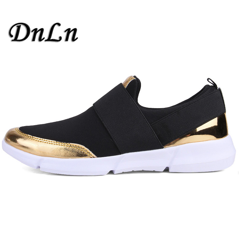 Plus Size 35-42 Comfortable Women Sneakers Air Mesh Spring/Autumn Shoes Gold Black Silver Female Shoes Zapatillas Mujer  ZT40 2017brand sport mesh men running shoes athletic sneakers air breath increased within zapatillas deportivas trainers couple shoes