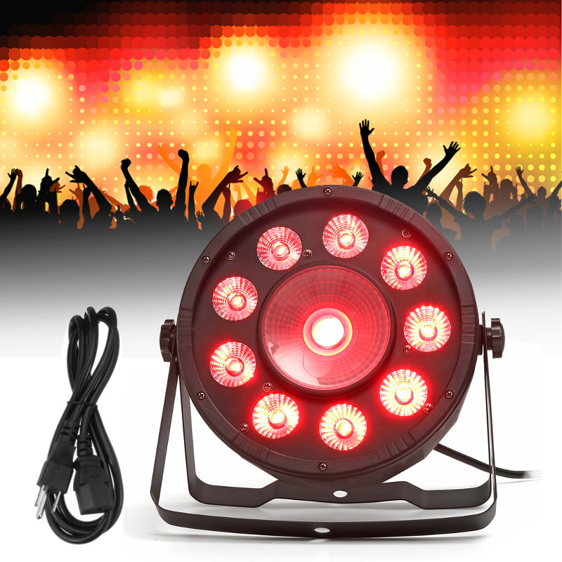 где купить Smuxi 10 LED Stage Lights RGB PAR LED DMX Stage Lighting Effect DMX512 Master-Slave Led Flat for DJ Disco Party KTV по лучшей цене