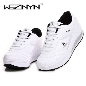 Image 5 - WGZNYN 2020 Slimming Shoes Women Fashion Leather Casual Shoes Women Lady Swing Shoes Spring Autumn Factory Top Quality Shoes