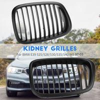 2Pcs Kidney Sport Grilles Grill Matte Black ABS For 99 03 BMW E39 525 530 540 M5
