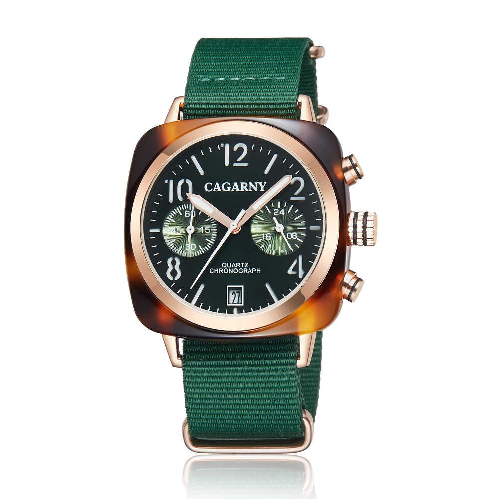 Relojes para hombre Cagarny, reloj deportivo de lujo de marca superior, cronógrafo, para hombre, manos luminosas, reloj militar impermeable, Masculino, XFCS
