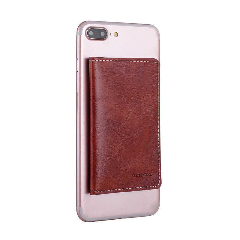Кредитных держатель для карт чехол для телефона для iPhone XS Max X XR 6 7 8 Plus Чехол-книжка на заднюю панель стикер на клейкой основе для samsung S10 Plus, чехол-кошелек
