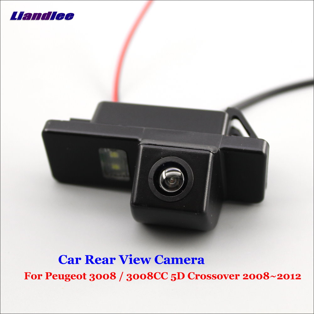 Car Rear View Backup Parking Camera For Peugeot 3008 5D Crossover 2008-2010 2011 2012 Reverse Reversing Camera HD Accesories image