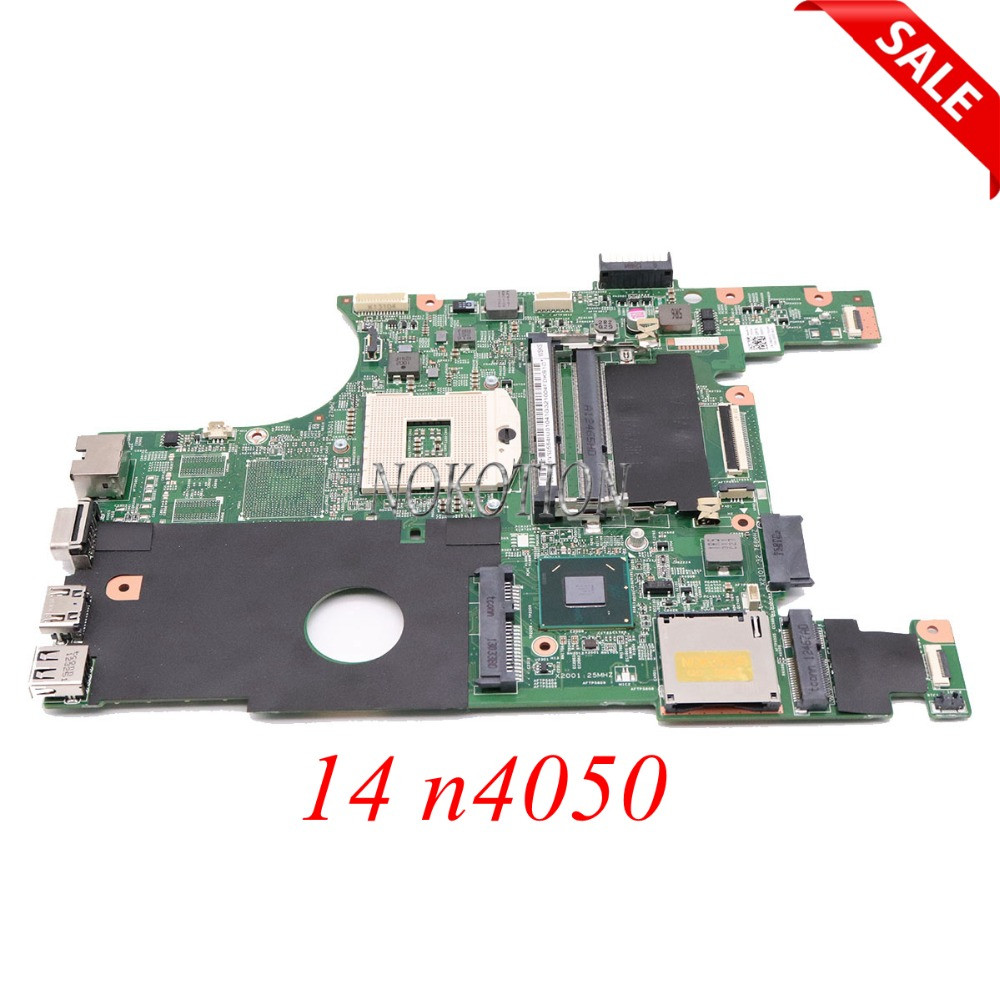 NOKOTION CN-0X0DC1 0X0DC1 X0DC1 Laptop Motherboard For Dell inspiron 14 n4050 HM67 UMA DDR3 MAIN BOARD full tested nokotion dav02amb8f1 cn 00fr3m 00fr3m 0fr3m laptop motherboard for inspiron 14r n4110 hm67 hd6630m mainboard ddr3 full works