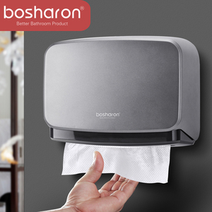 Image 1 - Hand Multifold Paper Towel Holder Bathroom Accessories Wall Mounted Kitchen Holder For Paper Towel Dispenser Key Open Tissue Box