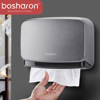 Hand Multifold Paper Towel Holder Bathroom Accessories Wall Mounted Kitchen Holder For Paper Towel Dispenser Key Open Tissue Box