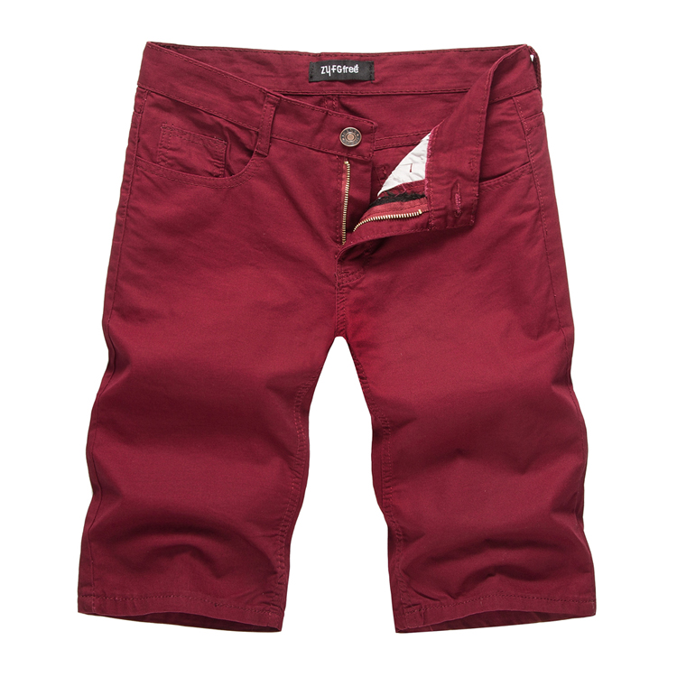 TAPOO Man Cargo Short Summer Multi Pockets Solid Color Cotton Cargo Shorts For Male Casual Mid Waist Short