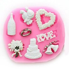 ФОТО   christmas ring bell cooking tools fondant DIY cake silicone moulds chocolate baking decoration candy Resin craft