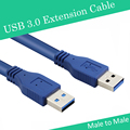 High-speed transmission USB 3.0 A type Male to Male M/M USB Extension Cable AM TO AM 1m 3.28ft 4.8Gbps Support USB 2.0