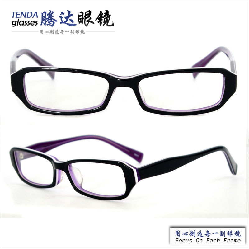 Small Acetate Rectangle Spectacles Women Reading Glasses Eyewear With Prescription Lenses