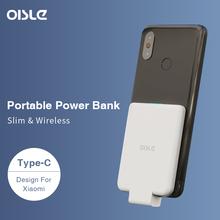 OISLE Power Bank dla Xiao mi mi 9 8 6 Ultra cienki zewnętrzny akumulator Power Bank szybkie ładowanie przenośna ładowarka type-c mi X 3 5S NOTE3 tanie tanio Bateria litowo-polimerowa Rok wybudowania kable Typ C 2600-4999mAh Do smartfona CN (pochodzenie) USB Typu C Z tworzywa sztucznego