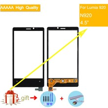 For Nokia Lumia 920 N920 Touch Screen Touch Panel Sensor Digitizer Front Glass Outer Lens Touchscreen NO LCD Black lcd screen for nokia 925 lumia cell phone black with touchscreen with logo