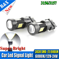 3157 3156 светодиодный высокое Мощность 21smd 3030 светодиодный поворотник P27W белый T25 светодиодный автомобилей лампочки P27/7 Вт автомобиля источник...