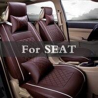 New Pu Leather Car Seats Automobiles Seat Base Covers Auto Cushion Accessories For Seat Cordoba Exeo Ibiza Cupra Leon Mii Toledo