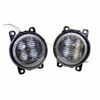 For CITROEN C4 Picasso UD_ MPV 2007 2015 Car Styling Bumper Angel Eyes LED Fog Lamps DRL Daytime Running Fog Lights OCB Lens
