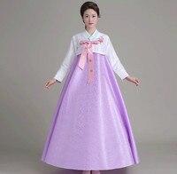 2017 The New South Korean Traditional Costumes Ms Royal Wedding Hanbok Korean National Costume Dance Costume