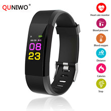 ID115 Plus HR Kebugaran Gelang Heart Rate Tekanan Darah Smart Band Pedometer Aktivitas Tracke Bluetooth Olahraga Gelang Wanita(China)