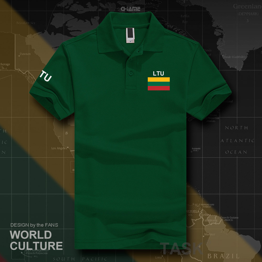 Lithuania Lithuanian   polo   shirts men short sleeve white brands printed for country 2017 cotton nation team LTU Lietuva Lietuvos