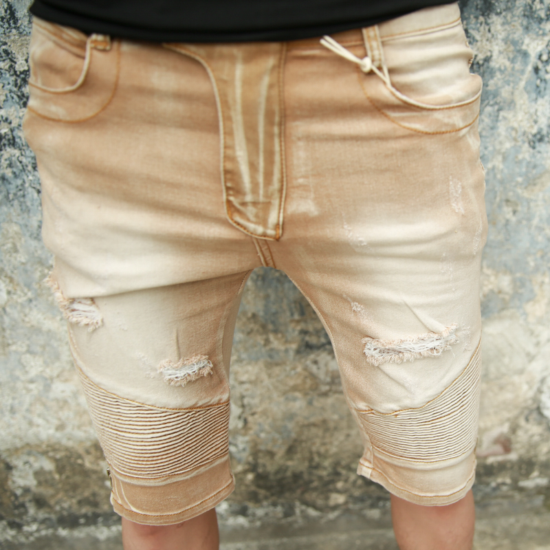 New Fashion Mens Short Jeans Brand Clothing Bermuda Mens Denim Shorts Slim Casual Summer Short Jeans Shorts Male Шорты