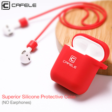 CAFELE Silicone TPU Case for Apple Airpods Wireless Blue Tooth Earphone Case Soft Touch Anti-lost Protective Box ( No Earphone )