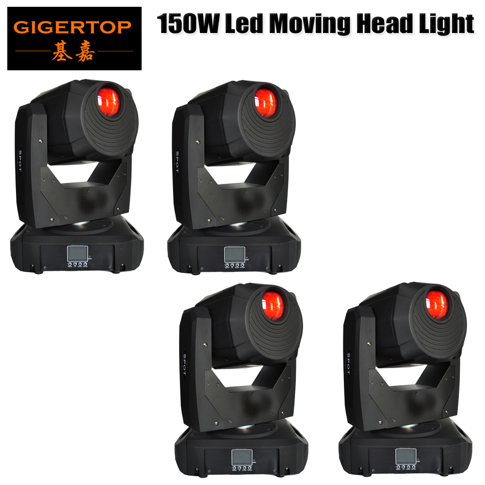 TIPTOP 4 Unit 150W LED gobo Moving Head Lighting spot lighting dj set gobo christmas lights dj light projector for bar part