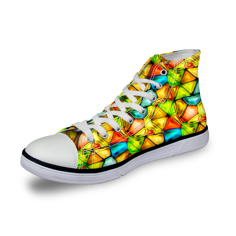 Noisydesigns color boys designer skor 3D print herr casual sneakers - Herrskor