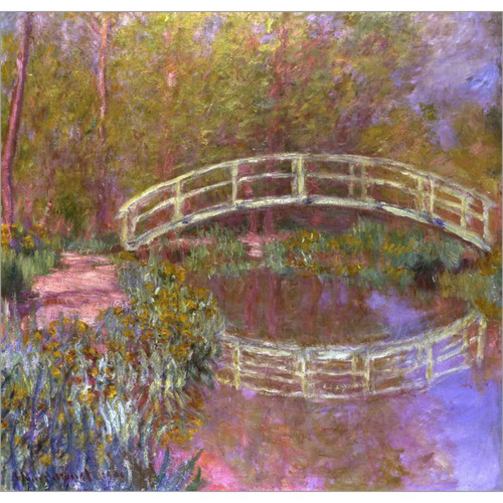 US $104.12 24% OFF|Hohe qualität Claude Monet moderne kunst Le Pont  Japonais Dans Le Jardin ölgemälde handgemalte-in Malerei und Kalligraphie  aus Heim ...