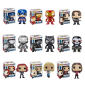 Funko Pop Original Marvel Avengers Winter Soldier Iron man Captain America War Machine panther Crossbones Vinyl Figure Model