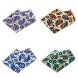MF2561 продажи Для мужчин хлопок нагрудные платки окантовка Цветочный Пейсли печати Платки для Ascot Галстуки Галстук Свадебная вечеринка