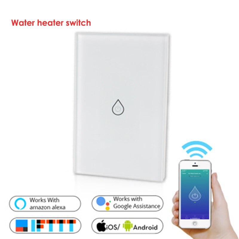 wifi inteligente aquecedor de agua interruptor de interruptores de controle remoto de voz padrao dos eua