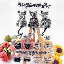 JC Clear Rubber Stamps Scrapbooking Different Cats Sheet Silicone Seals Craft Stencil Album Paper Card Making Template
