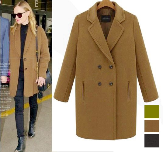 Brown ladies wool coat – Novelties of modern fashion photo blog