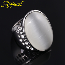 2014 high quality hollow out heart jewelry environmental luxury rhinestone oval shape big single stone ring opal for women/men hollow out rhinestone ring