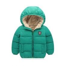 1161e0c2e BibiCola niños algodón abrigo chaquetas de invierno muchachos capa gruesa  sudaderas bebe abajo parkas niños nieve