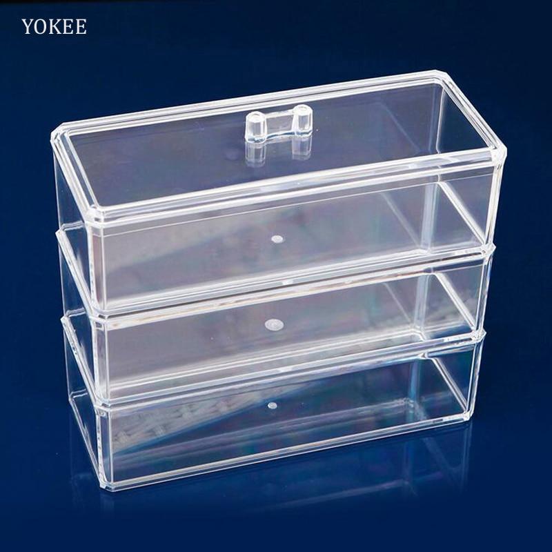 Storage Boxes Bathroom: YOKEE Clear Transparent Crystal Makeup Storage Box