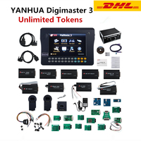 YANHUA Digimaster 3 III Odometer Correction Car Mileage Programmer Auto Key Programmer Immobilizer SRS Unlimited Tokens Update