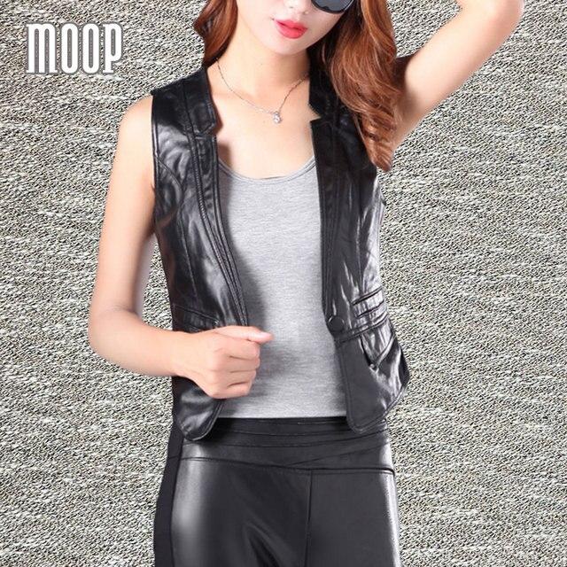 Black genuine leather vest 100% lambskin spliced leather jacket women waistcoat chalecos mujer colete LT368 Free shipping
