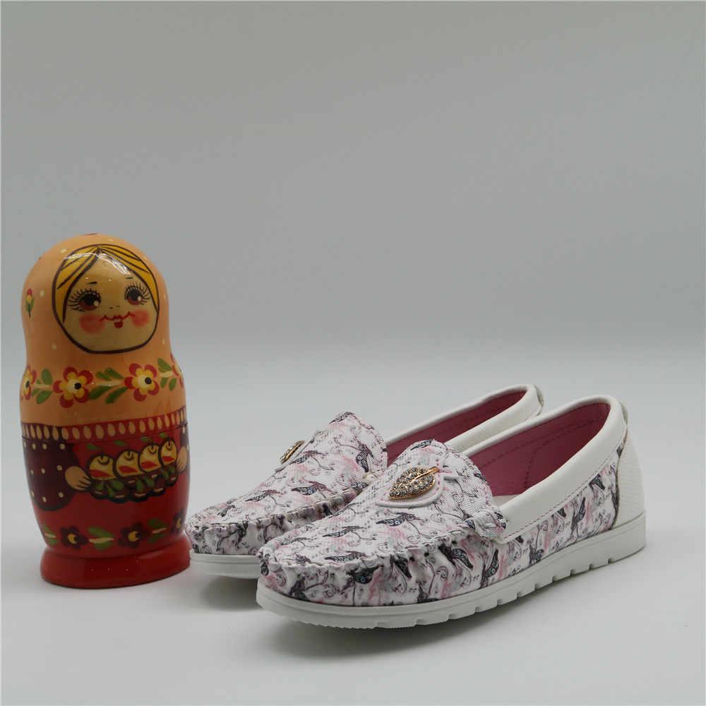 เด็กหญิงรองเท้าฤดูใบไม้ผลิฤดูใบไม้ร่วงรองเท้า Loafers ลื่น Tendon รองเท้าผ้าใบเด็ก PU หนังเด็กรองเท้า