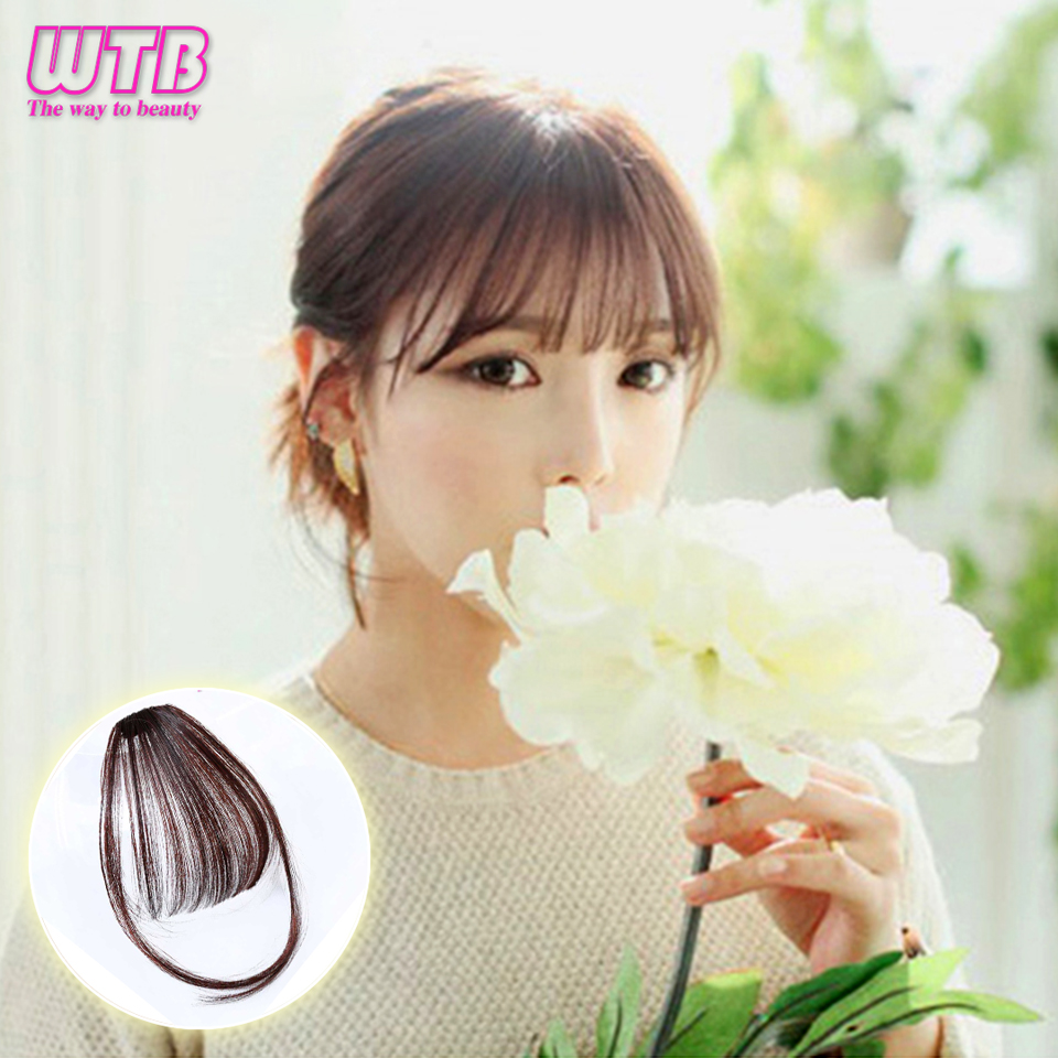 Hot Sale Air Bangs Heat Resistant Synthetic Hair Pieces Clip In Hair
