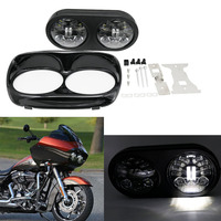 5.75 moto Road Glide LED Headlamp For Harley led headlights High Low Bulbs Motorcycle led Double Turn Left Right Light