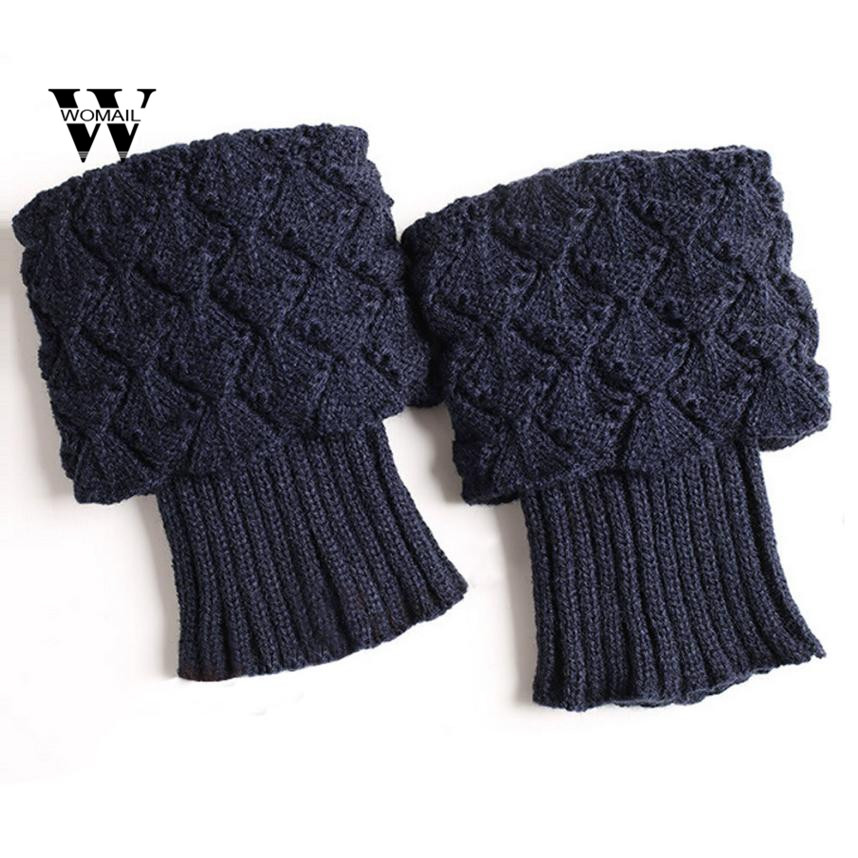 Women's Socks & Hosiery Leg Warmers Fashion Leg Warmers For Women Stripe Knit Boot Cuffs Knee High Boot Socks Trumpet Flower Long Boot Cover Warmers Gaiters Year-End Bargain Sale