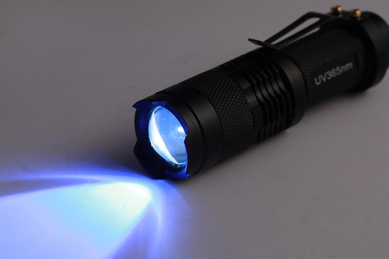High quality 395nm LED UV Flashlight CREE LED Flashlight SK68 Purple Violet Light UV Lamp torch AA batteries free shipping